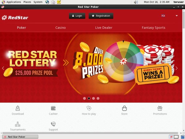 Create Red Star Poker Account