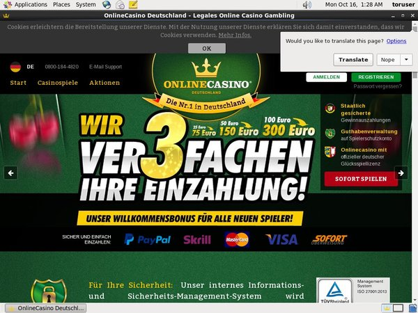 Online Casino DE ボーナス