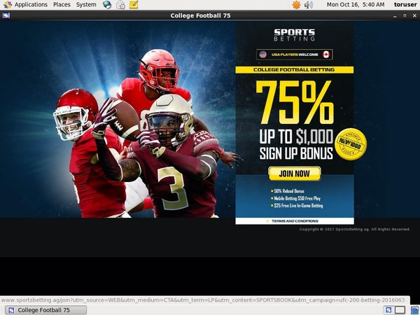 Sports Betting Discover Card
